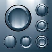 Metal buttons — Stock Vector