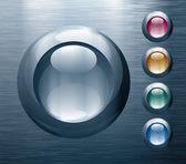 металлические кнопки — Cтоковый вектор