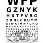 Vector eye chart — Stock Vector #56875673