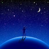 Night sky — ストックベクタ