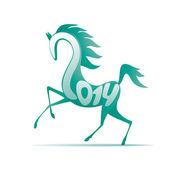 Kůň roku 2014 — Stock vektor
