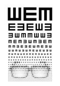 Eye chart — Stock Vector