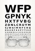 Vector eye chart — Stock Vector