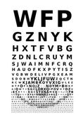 Vector eye chart — Vettoriale Stock