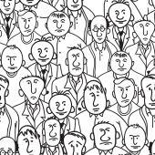 Men. Seamless background — Stock Vector
