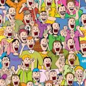Crowd Cheering, Seamless — Vector de stock