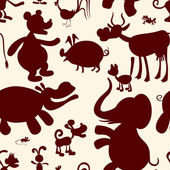 Animals. Seamless pattern — Stock Vector