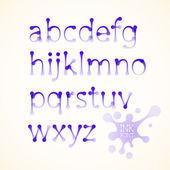 Vector ink lowercase alphabet — Stock Vector