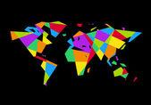Vector world map — Stock Vector