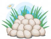 Easter eggs — Vector de stock