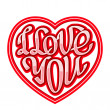 Short phrase I Love You inscribed in a heart shape — Stock Vector #62953667