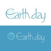 Earth day design — Stock Vector