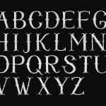 Alphabet hand-drawn on chalkboard — Stock Photo #73356977