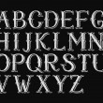 Alphabet hand-drawn on chalkboard — Stock Photo #73357011