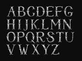 Alphabet hand-drawn on chalkboard — Stock Photo