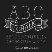 Alphabet hand drawn on chalkboard — Stock Vector