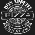 Pizza. Lettering on chalkboard — Stock Vector #75206315