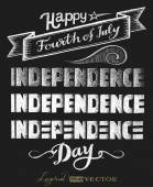 Independence day. Chalk lettering — Stock Vector