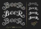 Word Beer — Stock Vector