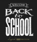 Back to school. Chalk lettering — Stock Vector