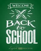 Back to school. Lettering on chalkboard — Stock Vector