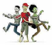 Zombies-Cartoon Characters — Stockvektor