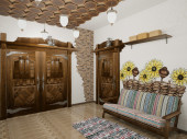 3d visualization of interior in country style — Stock Photo