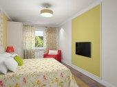 Bedroom interior — Stock Photo