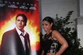 Nicolas Cage Poster, Jordin Sparks — Stock Photo