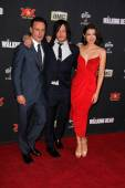 Andrew Lincoln, Lauren Cohan, Norman Reedus — Stock Photo