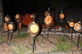 Układ słoneczny rzeźbione dyni — Zdjęcie stockowe