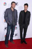 Blake Shelton, Adam Levine — Stock Photo