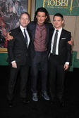 Billy Boyd, Orlando Bloom, Elijah Wood — Stock Photo