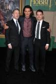 Billy Boyd, Orlando Bloom, Elijah Wood — Stock Photo
