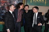 Billy Boyd, Orlando Bloom, Andy Serkis, Elijah Wood — Stock Photo