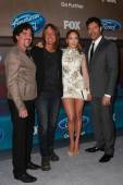 Scott Borchetta, Keith Urban, Jennifer Lopez, Harry Connick Jr — Stock Photo