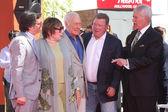 Ben Mankiewicz, Shirley MacLaine, Christopher Plummer, William Shatner, Alex Trebek — Stock Photo