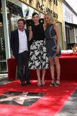 Michael J. Fox, Julianna Margulies, Tracy Pollan — Stock Photo