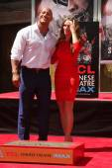 "Dwayne ""The Rock"" Johnson, Lauren Hashian — Stock Photo"