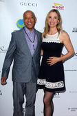 Russell Simmons, Mira Sorvino — Stock Photo