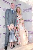 Eric Dane, Rebecca Gayheart, Georgia and Billie Dane — Stock Photo