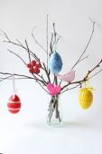 Barevné velikonoční dekorace — Stock fotografie