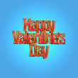 Happy Valentines Day design lettering greeting card template — Stock Photo #63769887