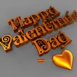 Happy Valentines Day design lettering greeting card template — Stock Photo #63771255