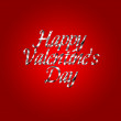 Happy Valentines Day design lettering greeting card template — Stock Photo #63770583