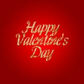 Happy Valentines Day design lettering greeting card template — Stock Photo