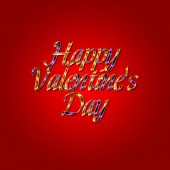 Happy Valentines Day design lettering greeting card template — 图库照片