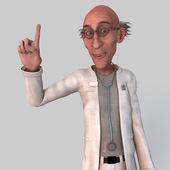 Starý doktor kreslený — Stock fotografie