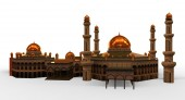 Mezquita de aislado del fondo — Foto de Stock