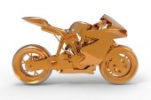 Golden Motorcycle — Stock Photo